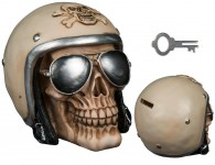 "pokladnička ""SKULL WITH MOTORCYCLE HELMET"" 10015220"